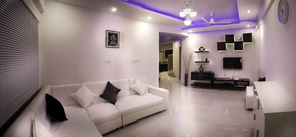 bílý obývací poko