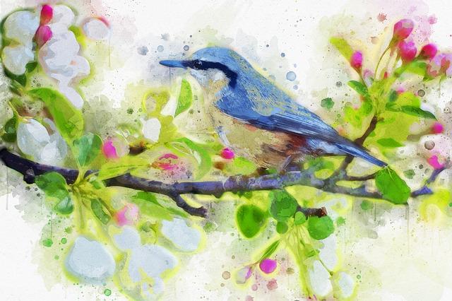 obraz ptáčka